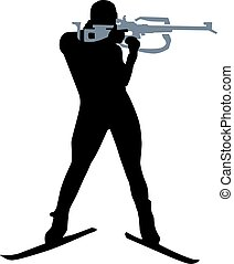 Biathlon Person Silhouette