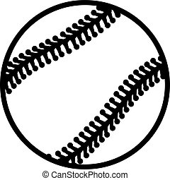 Baseball Outline Stiches