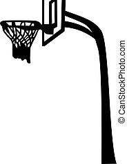 Basketball Net with Backboard