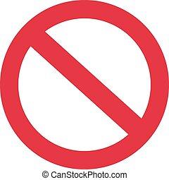 No forbidden sign