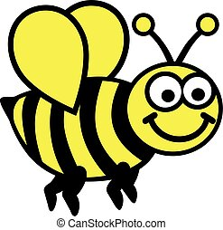 Cartoon Bee two colors