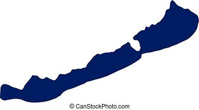 Lake balaton silhouette