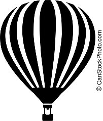 Illustration of a hot air balloon