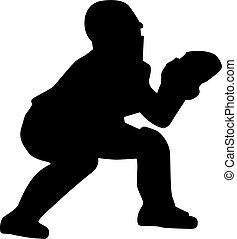Baseball Catcher Silhouette