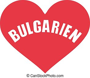 Bulgaria heart - german