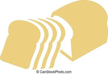 Sliced tin loaf bread