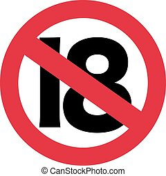 18 ban sign - 19th birthday
