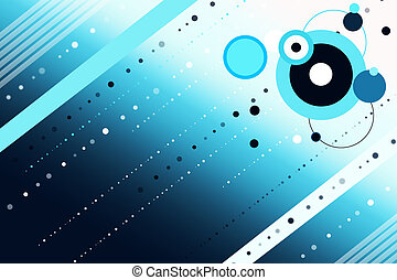 Retro colorful background with dots and circles