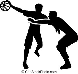 Basketball Player Fight in Action