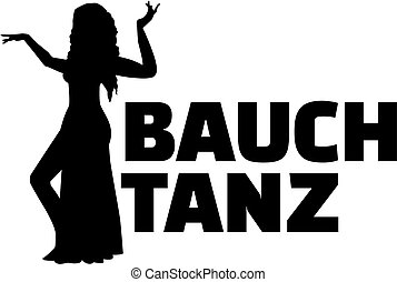 Belly dance german with silhouette