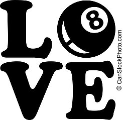 Pool Love Eight Ball