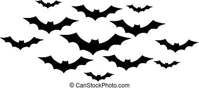 Bats in swarm
