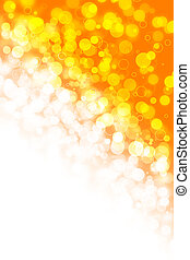 Abstract light blurs in orange