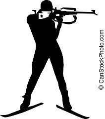 Biathlon Silhouette Shooting