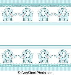 Boy Baby Elephant - Scalable vectorial image representing a...