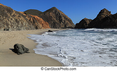 Pfeiffer Beach - Looking south along the shore at Pfeiffer...
