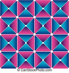 Cyan-magenta drapery pattern Color bright decorative...