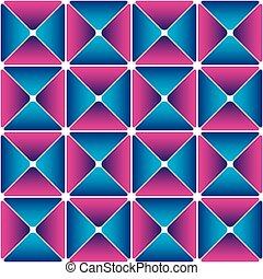 Cyan-magenta drapery pattern. Color bright decorative...