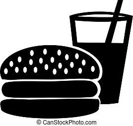 Burger mit Drink icon