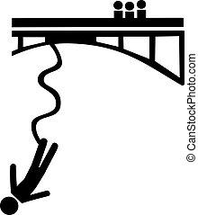Bungee jumping symbol