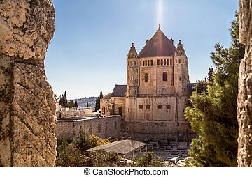 The Dormition Abbey in Jerusalem - View of Dormition Abbey...