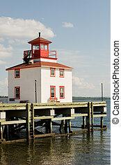 Pictou, Nova Scotia - Waterfront boardwalk in tourist town...