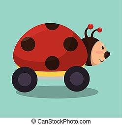ladybug with wheels icon