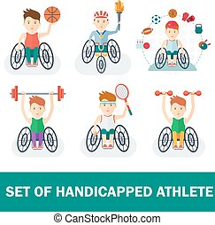 set of handicapped athlete