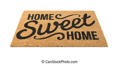 Home Sweet Home Welcome Mat Isolated on White - Home Sweet...