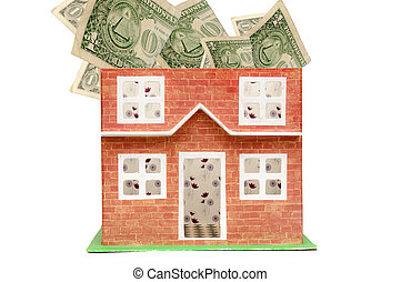 real estate and property prices concept showing the cost of...