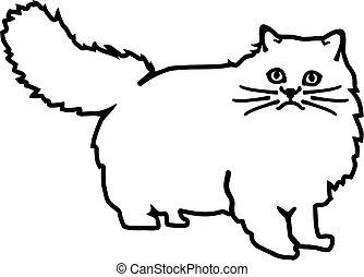 Persian cat contour