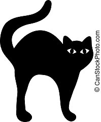 Black Cat with hump