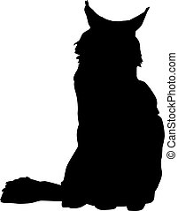 Maine coon silhouette