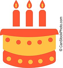 Birthday Cake with three candles