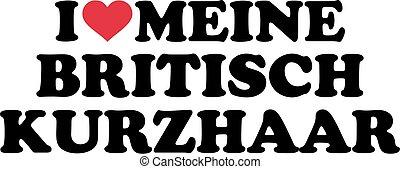I love my British Shorthair german