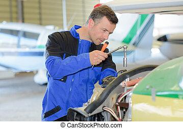 Plane repairman