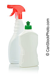 two kitchen cleaning bottle