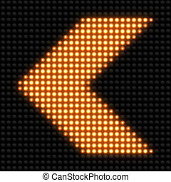 Seamless Texture yellow arrows on the road