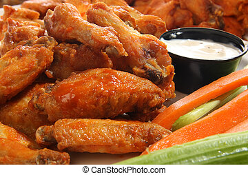 Spricy chicken wings - Spicy chicken wings with ranch dip