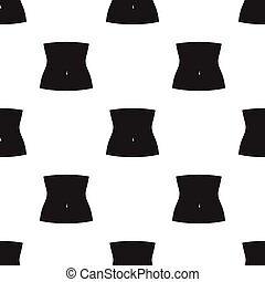 Abdomen icon in black style isolated on white background....