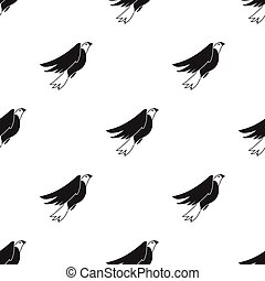 American eagle icon in black style isolated on white background. Patriot day pattern stock vector illustration.