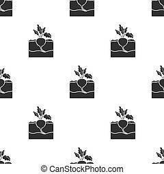 Beet icon in black style isolated on white background. Plant...