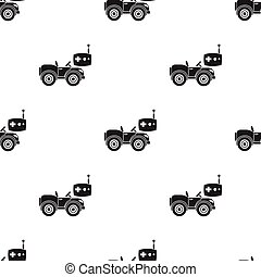 RC car icon in black style isolated on white background....