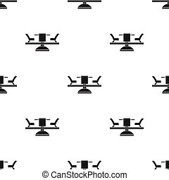 Carousel icon in black style isolated on white background....