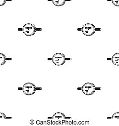 Water meter icon in black style isolated on white...