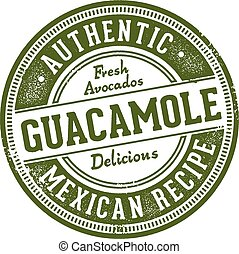 Authentic Guacamole Mexican Restaurant Stamp