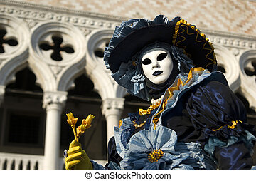 Masks at the Venice Carnival - Elegant and evocative of the...