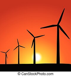 Wind Turbines - Wind powered turbines