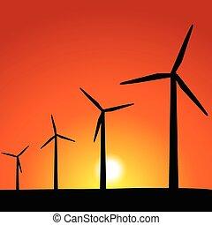Wind Turbines - Wind powered turbines