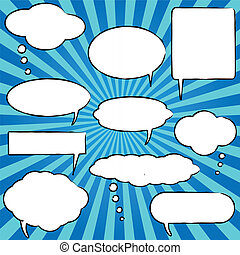Chat Bubbles - Comic speech chat bubbles